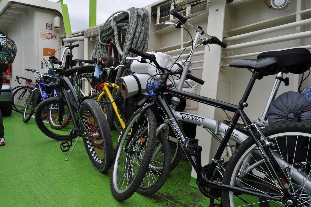 As bicicletas no barco