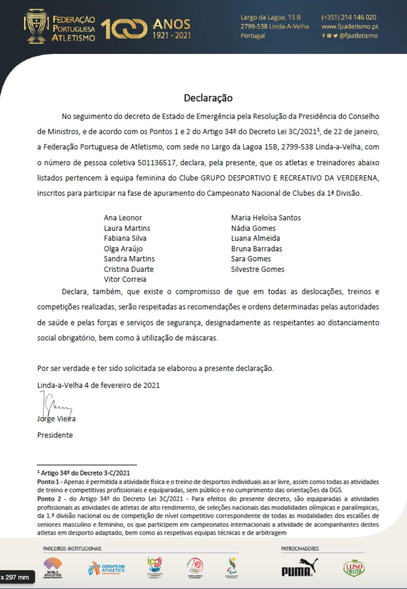 Declaração Autorização